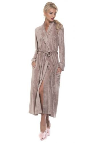 Длинный женский велюровый халат Unique