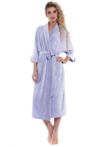 Женский велюровый халат Expressive сиреневый