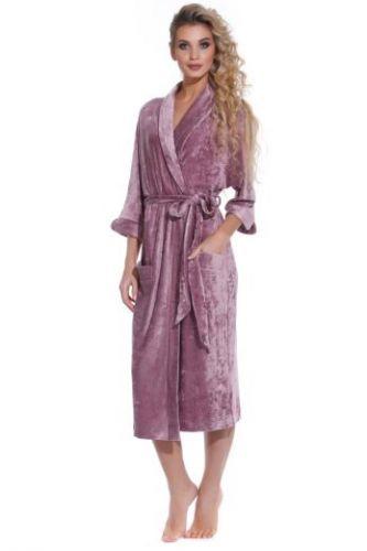 Велюровый женский халат Expressive сливовый