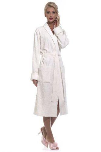 Махровый халат женский кремовый Casharel