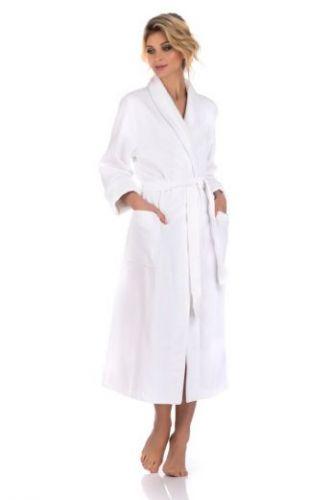 Женский белый махровый халат Cristal