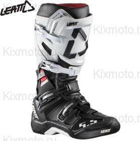 Ботинки Leatt GPX 5.5 FlexLock, Черно-белые
