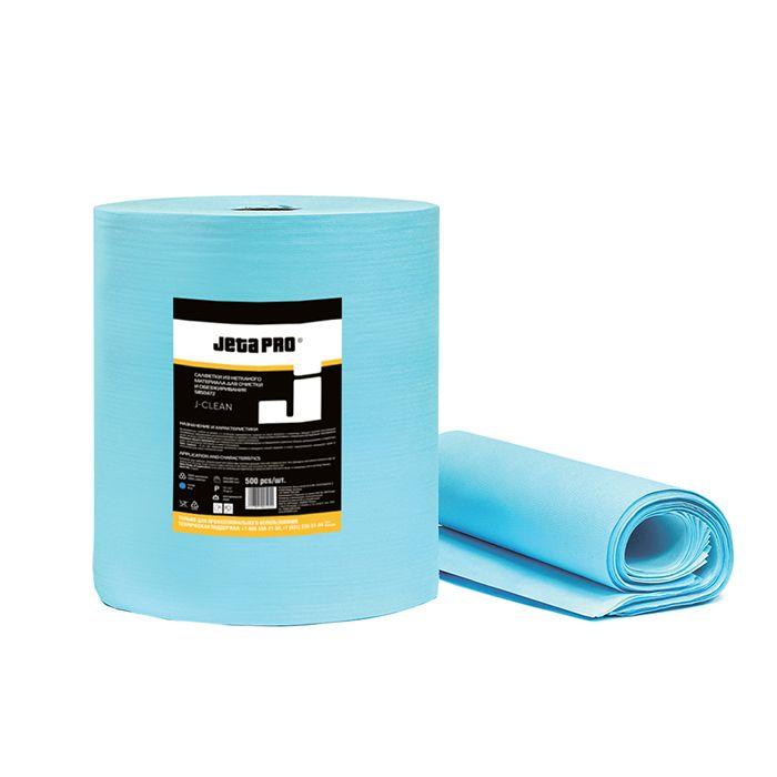 Jeta PRO TRIPLE Трехслойные очищающие бумажные салфетки, 54г/м2, 36см. x 38см., в рулоне 500шт., 2 рулона.
