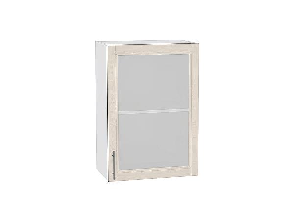 Шкаф верхний Сканди В500 со стеклом Cappuccino Softwood