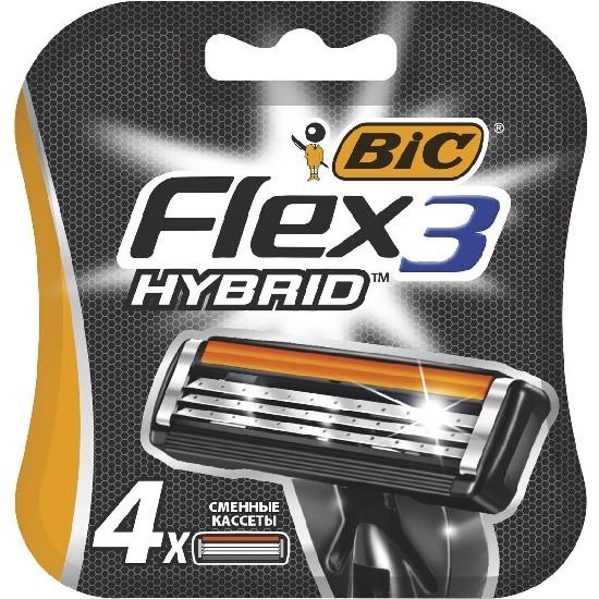 Bic Flex 3 Hybrid сменные кассеты (4 шт)