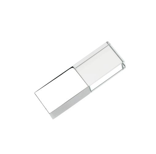 4GB USB-флэш накопитель Apexto UG-006 стеклянный, белый LED