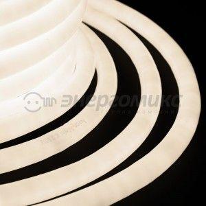 Гибкий Неон (360 круглый) 19*19мм т.-бел. 96LED/3.6W/м (бухта 50м, цена за м) 131-036 Neon Night