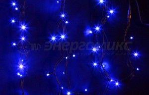 Гирлянда  Дюраплей LED NICHA 20м 200LED  черн. кауч. Синий 315-153 Neon Night