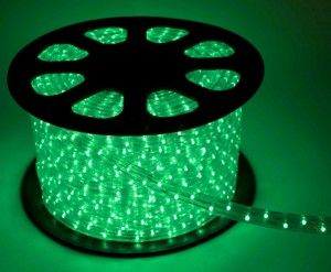 Дюралайт (бухта) KOC-DL-2W13-G, 24LED/m,13мм, зеленый, 100м, цена за1м, фиксинг(2W) резка 2м Космос
