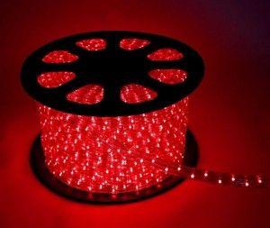 Дюралайт (бухта) KOC-DL-2W13-R, 24LED/m, 13мм, красный, 100м, цена за1м, фиксинг(2W) резка 2м Космос