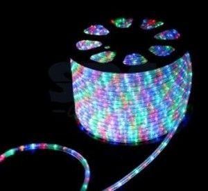 Дюралайт (бухта) KOC-DL-3W13-RGB 24LED/m, 13мм, разноцв 100м, цена за1м, чейзинг(3W) резка 2м Космос