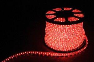Дюралайт (световая нить) со светодиодами, 2W 100м 230V 36LED/м 13мм, красный, LED-R2W 26061