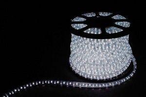 Дюралайт (световая нить) со светодиодами, 3W 50м 230V 72LED/м 11х17мм, белый 7000K, LED-F3W 26070