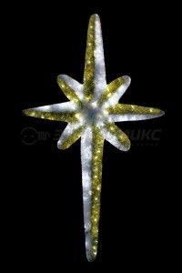 Фигура (дюралайт) ''Звезда 8-ми конечная'' белый, 180см, IP44, мишура 506-244 Neon-Night