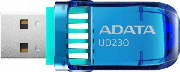 32GB USB 2.0 флэш накопитель  ADATA UD230  поворотная синяя