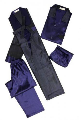 Синий мужской шелковый комплект Very Special Reserve