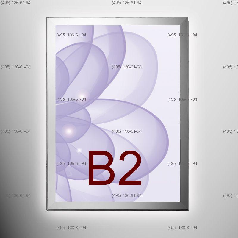 Световая панель MAGNETIC, односторонняя, формат B2, 500х700 мм