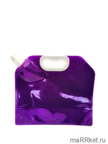 Складная канистра для воды с вакуумным клапаном (3 л, фиолетовый)