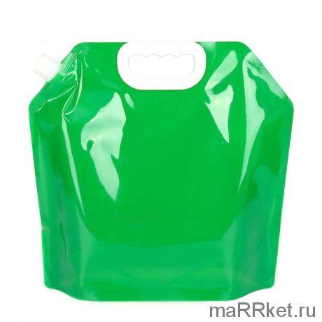 Складная канистра для воды с вакуумным клапаном (5 л, зеленый)