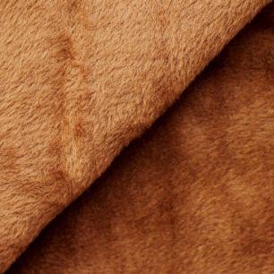 Ткань плюш трикотажный коричневый 50х50 см