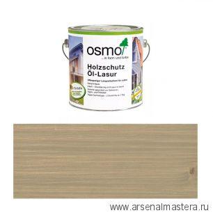 Защитное масло-лазурь для древесины для наружных работ OSMO Holzschutz Ol-Lasur 903 Серый базальт 2,5 л