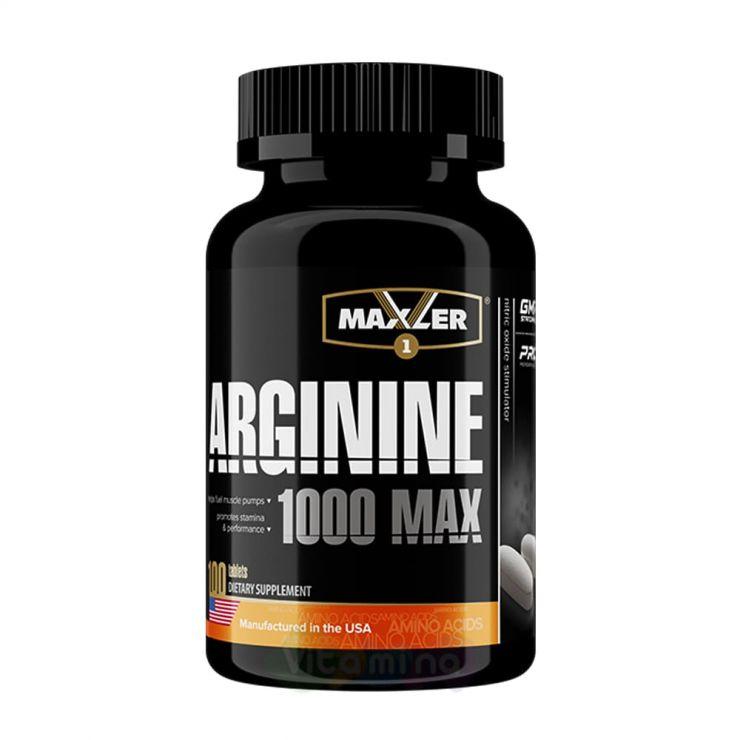 Maxler Arginine 1000 MAX, 100 табл