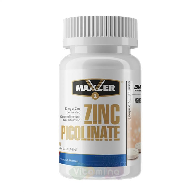 Maxler Пиколинат цинка Zinc Picolinate, 60 табл