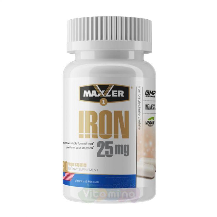 Maxler Железо Iron 25 мг, 90 капс