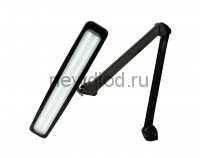 Настольная бестеневая лампа на струбцине REXANT, 84 LED, регулятор яркости, черная