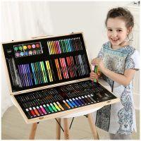 Набор для рисования в деревянном чемоданчике 180 предметов_2