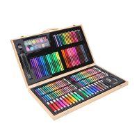 Набор для рисования в деревянном чемоданчике 180 предметов_8