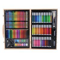 Набор для рисования в деревянном чемоданчике 150 предметов_5