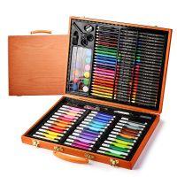 Набор для рисования в деревянном чемоданчике 150 предметов_4