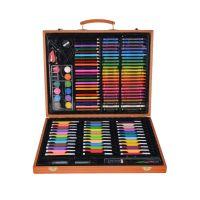 Набор для рисования в деревянном чемоданчике 150 предметов_2