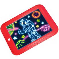 Волшебный планшет для рисования с подсветкой Magic Sketchpad, красный
