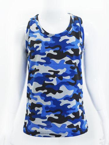 Майка-боксёрка камуфляжная для мальчиков 8-12 лет Bonito синяя