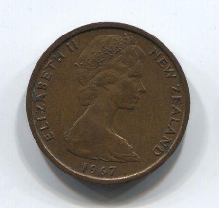 1 цент 1967 года Новая Зеландия