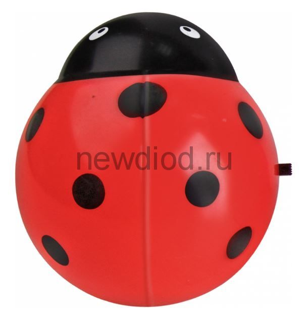 Ночник светодиодный NLA 07-BR ЖУЧОК красный с выключателем 230В IN HOME