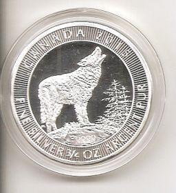 Серый волк 2 доллара Канада 2015 Копия