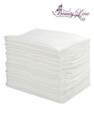Полотенца одноразовые белые 45/90, СОТЫ, плотность 50 - 50 штук