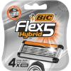 Bic Flex 5 Hybrid сменные кассеты (4 шт)