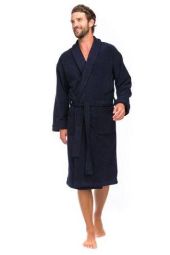 Мужской махровый халат Deep Blue (Е 363) тёмно-синий