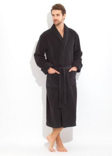Мужской махровый халат Brutal черный