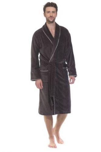 Мужской махровый халат Elegant темно-серый