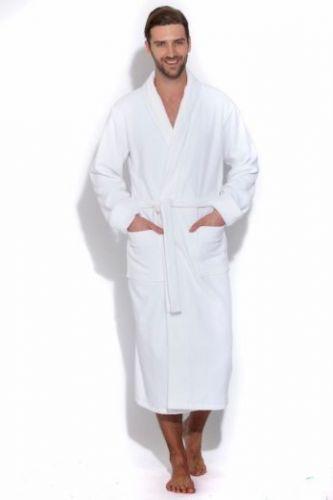 Белый махровый халат Cristal