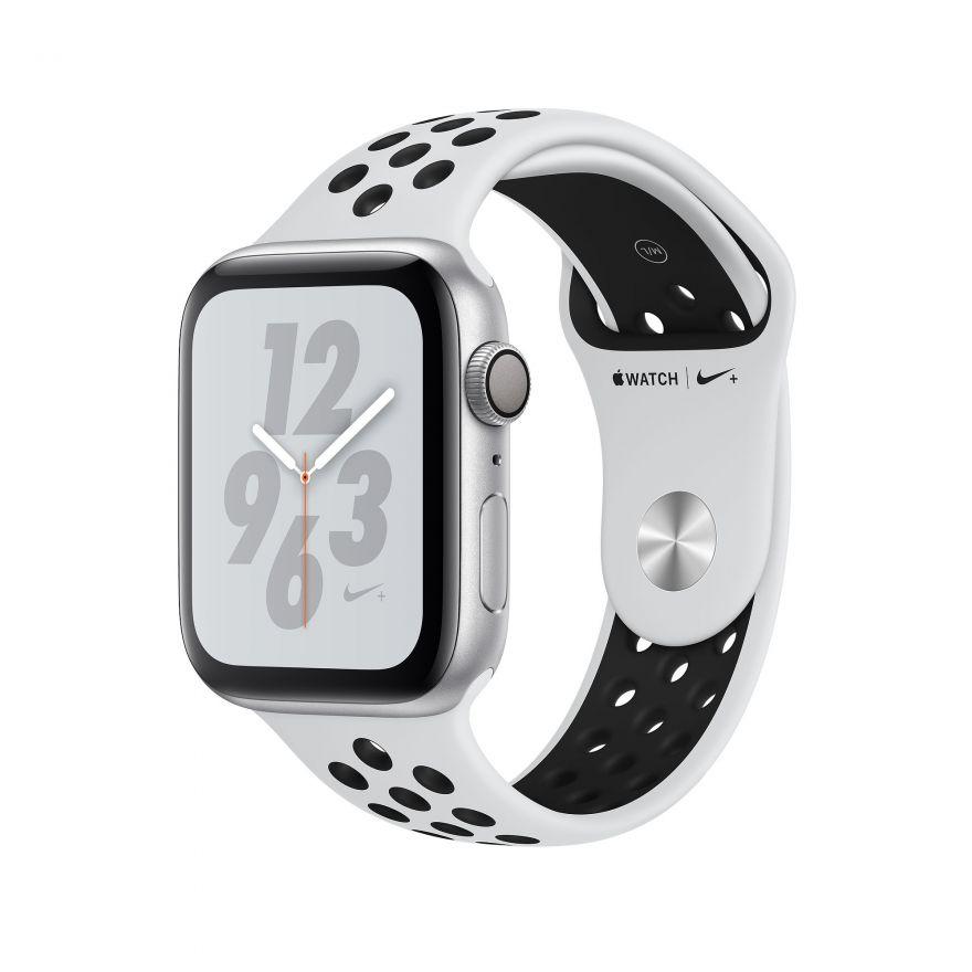 Apple Watch Nike+, 40 мм, Корпус из алюминия серебристого цвета, спортивный ремешок Nike цвета «чистая платина/чёрный»