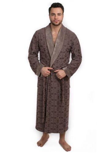 Мужской велюровый халат Dylon капучино