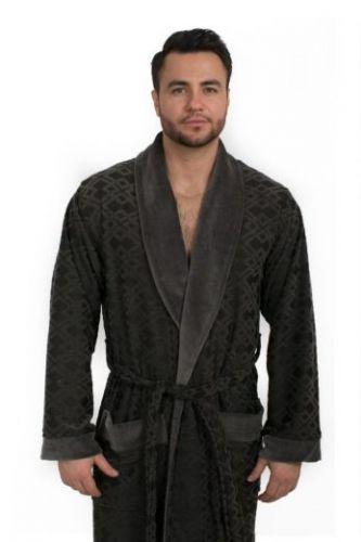 Мужской велюровый халат Dylon антрацит
