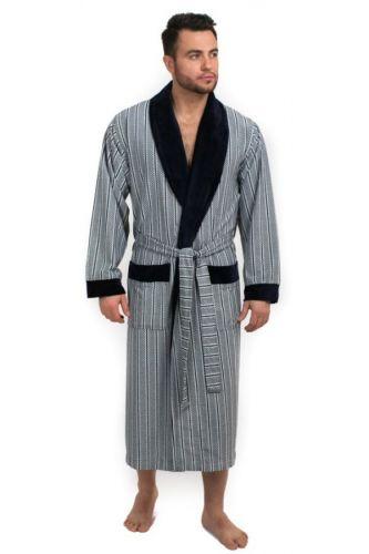 Мужской велюровый халат Farell синий