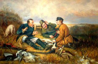 Охотники на привале ( Репродукция Василия Перова)